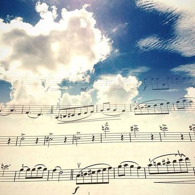 Music Wall Art - Photograph - #music #blueskies by Katie Taylor
