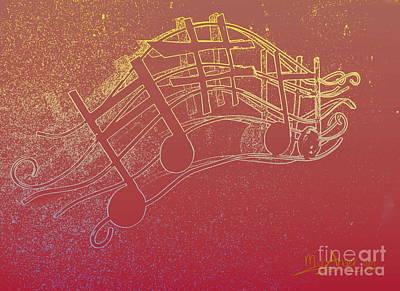 Custom Reproductions Digital Art - Music Capitol A 7 by Mark Ansier