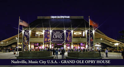 Photograph - Music City Grand Ole Opry by Robert Hebert