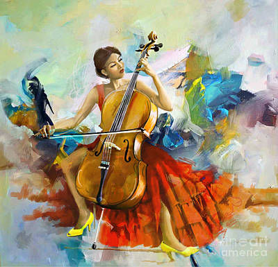 Salsa Painting - Music Colors And Beauty by Corporate Art Task Force