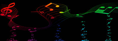 Mixed Media Royalty Free Images - Music Colors The World 1 Royalty-Free Image by Angelina Tamez