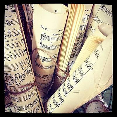 Mozart Photograph - Music For Sale #mozart #antiques by Mary Anne Payne