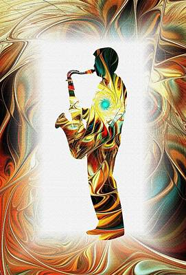 Digital Art - Music - From The Heart by Anastasiya Malakhova