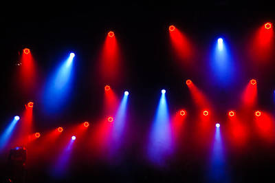Music In Red And Blue - The Wonderful Sound Of Nightlife Art Print
