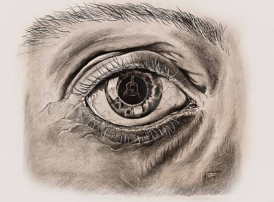 Musican Drawing - Music In The Eye by Art Imago