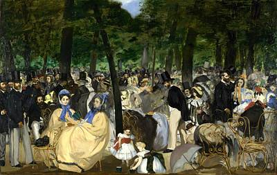 Tuileries Painting - Music In The Tuileries by Edouard Manet