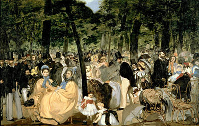 Tuileries Painting - Music In The Tuileries Gardens by Celestial Images