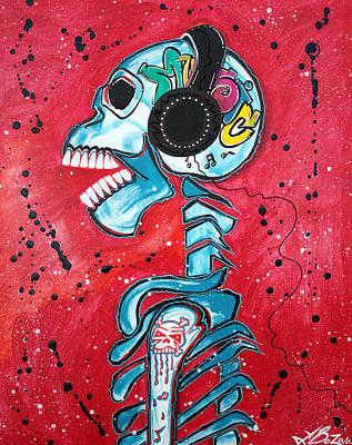 Hiphop Painting - Music Is Art by Laura Barbosa