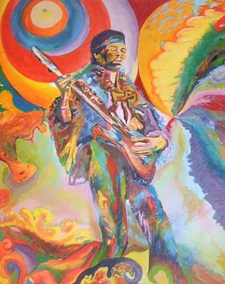 Music Is Ecstasy  Art Print by Erik Franco