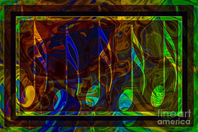 Digital Art - Music Is Magical Abstract Healing Art by Omaste Witkowski