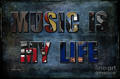 Photograph - Music Is My Life by Randi Grace Nilsberg