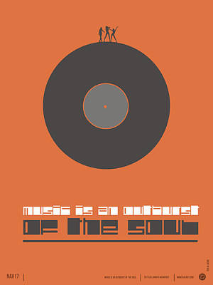 Inspirational Mixed Media - Music Is The Soul Poster by Naxart Studio