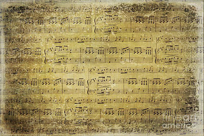 Old Sheet Music Photograph - Music Is What Feelings Sound Like by Sylvia Cook