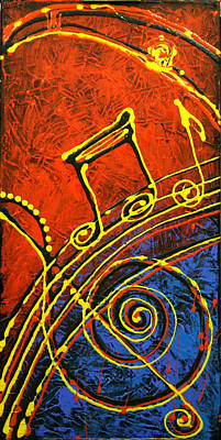Cuban Music Painting - Music  by Leon Zernitsky