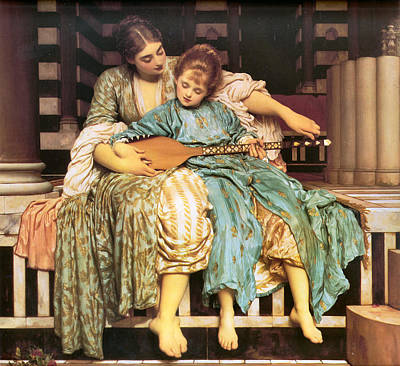 Frederick Digital Art - Music Lesson by Lord Frederick Leighton