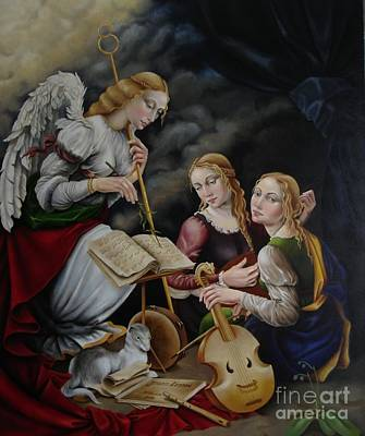 Painting - Music Lesson by Nathalie Chavieve