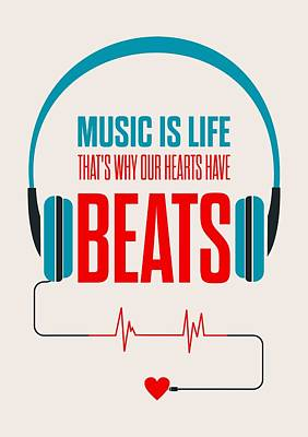 Digital Art - Music- Life Quotes Poster by Lab No 4 - The Quotography Department