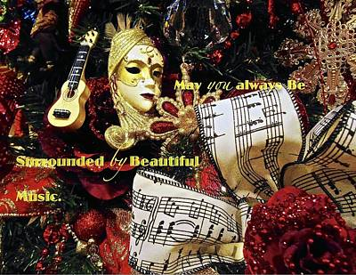 Photograph - Music Lovers Holiday Card by Joan Reese