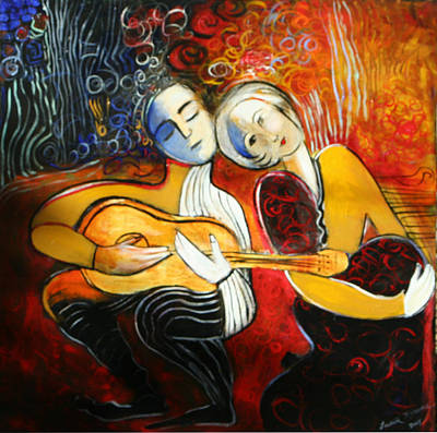 Painting - Music Lovers by Lauren  Marems