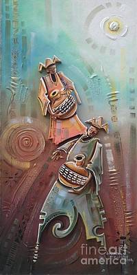 Music Makers Art Print by Omidiran Gbolade