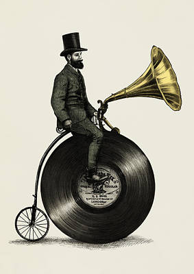 Art Print featuring the drawing Music Man by Eric Fan