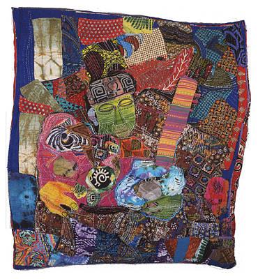 Tapestry - Textile - Music Man by Gwendolyn Aqui-Brooks