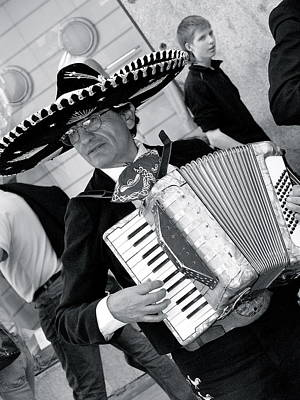 Music-mariachi Accordionist Art Print