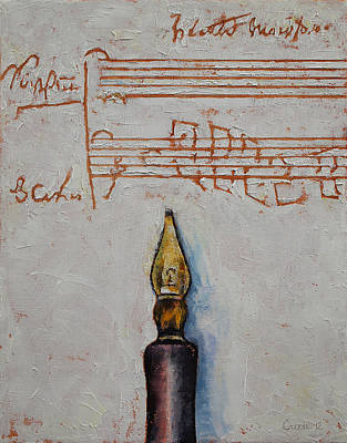 Music Score Painting - Music by Michael Creese