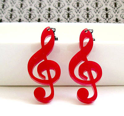 Perspex Jewelry Jewelry - Music Note Earrings by Rony Bank