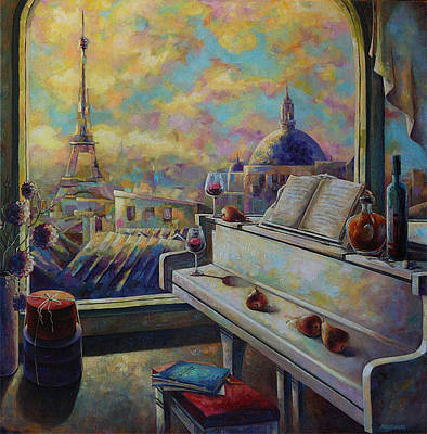 Cognac Painting - Music Of Paris by Nelly Baksht