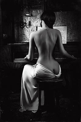 Naked Woman Photograph - Music Of The Body by Ruslan Bolgov (axe)