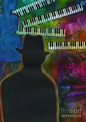Mixed Media - Music On His Mind by Angela L Walker
