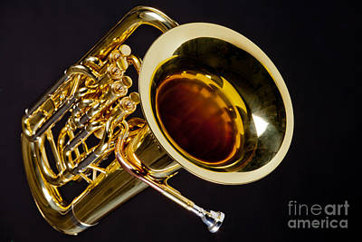 Photograph - Music Photograph Of A Tuba Brass Instrument In Color 3281.02 by M K  Miller