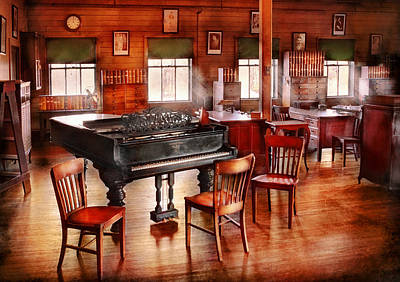 Music - Piano - The Grand Piano Art Print by Mike Savad