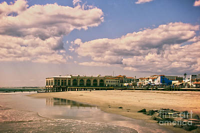 Music Pier From The Beach Art Print by Tom Gari Gallery-Three-Photography