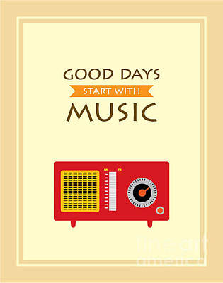 Chrome Wall Art - Digital Art - Music Radio Poster by Judilyn