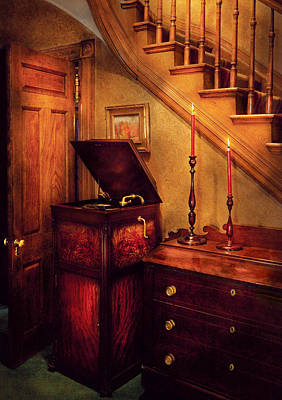 Music - Record - The Victrola Art Print by Mike Savad