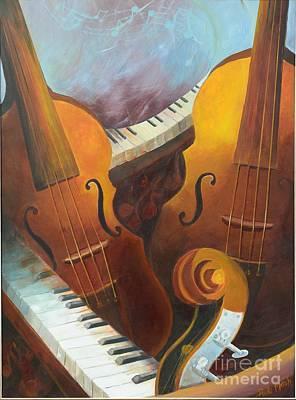 Wall Art - Painting - Music Relief by Paula Marsh