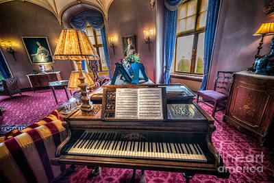 Piano Photograph - Music Room by Adrian Evans