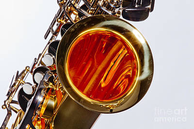 Saxophone Photograph - Music Saxophone Instrument Bell In Color 3267.02 by M K  Miller