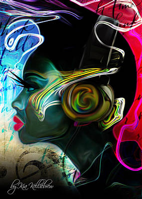 African-american Digital Art - Music Session by Kia Kelliebrew