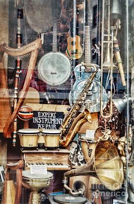 Piano Photograph - music store - NYC by HD Connelly