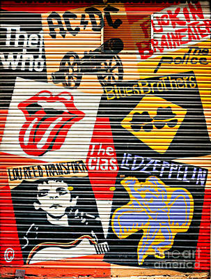 The Clash Photograph - Music Street Art Color by Luciano Mortula