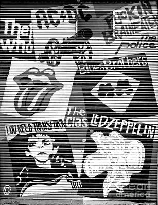The Clash Photograph - Music Street Art by Luciano Mortula