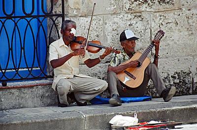 Music-street Musicians Art Print