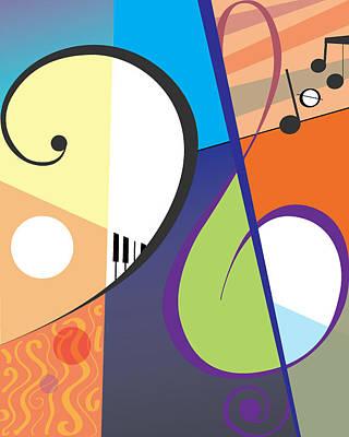 Musica Art Print