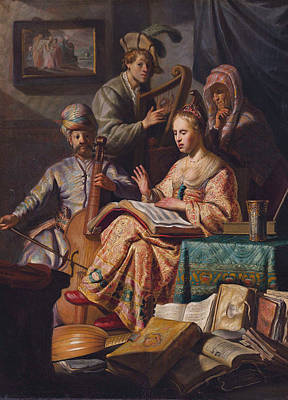 Painting - Musical Allegory by Celestial Images
