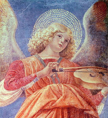 Music Painting - Musical Angel With Violin by Melozzo da Forli
