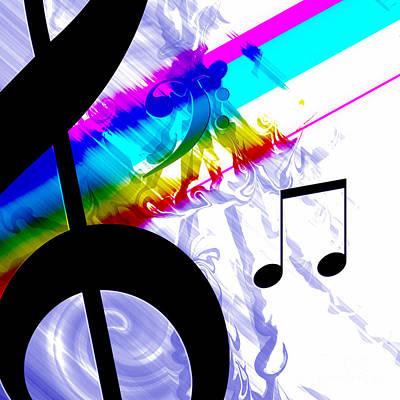 Digital Art - Musical Colors by Kristi Kruse