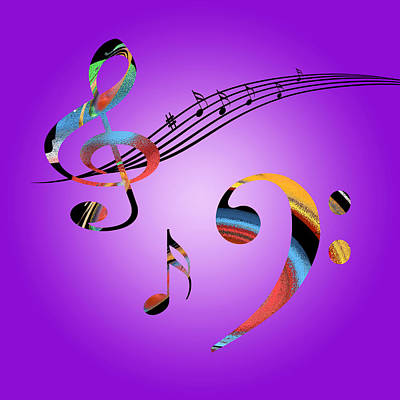 Sound Digital Art - Musical Dreams by Gill Billington